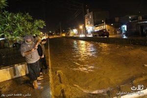 بارندگی و آبگرفتگی معابر در کنگان