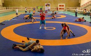 اردوی تیم ملی کشتی فرنگی نوجوانان در بندر کنگان