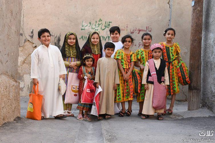 """آئین """"گرگشو"""" جشن نیمه رمضان کودکان در بندر کنگان"""